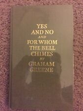 Yes And No AND For Whom The Bell Chimes,Graham Greene,Signed Limited Ed Sale
