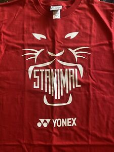 Yonex Stan The Man Logo T-shirt Red  Size Small