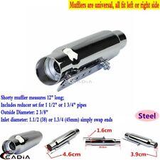 Stainelss Steel Shorty Exhaust Muffler Pipe for Cafe Racer Bobber Chopper Chrome