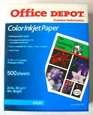 Office Depot Color Inkjet Paper Heavyweight 8.5 x 11, 24lb, 500 Sheets #562-903