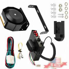 400W 8 Sound Police Fire Siren Horn PA Speaker MIC System Car Warning Alarm US