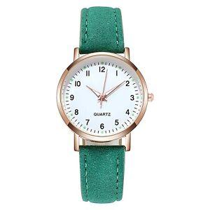Simple Luminous Retro Waterproof Leather Band Strap Wristwatch