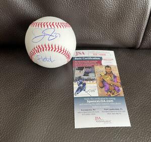 "David Fletcher Signed Official MLB Baseball ""Fletch"" + JSA Coa LA Angels"