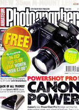 Amateur Photographer  magazine   tested   Canon Powershot  PRO1   1st  May  2004