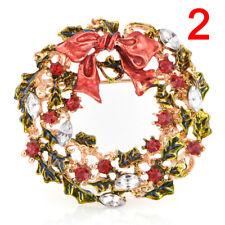 Crystal Rhinestone Enamel Brooch Pin Wedding Party Christmas Jewelry FG