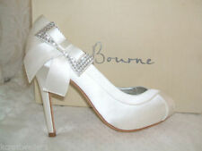 Bourne Women's Satin Peep Toe Heels