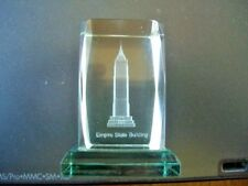 Cut Glass Etched 3D 'Empire State Building' Iconic Buildings Paper Weight-5cmsH