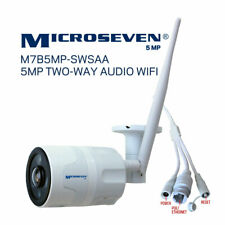 Microseven 5MP WiFi Dog Cat IP Camera 2 Two-Way Audio,Alexa Pet Baby Monitor SD