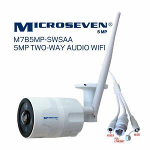 Microseven 5MP WiFi Dog Cat IP Camera 2 Two-Way Audio,Alexa Pet Baby Monitor SD