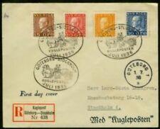 Sweden 1936 FDC, Definitives complete