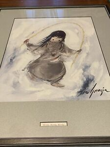 Limited Edition Print Ettore Ted DeGrazia Merrily, Merrily, Merrily Beautiful!