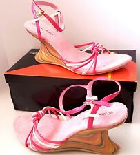 DONNA VELENTA - RAINBOW Fuschia / Pink Ladies High Heel Retro SHOES Size 37 BNIB