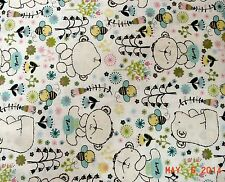 THEODORE THE BEAR, WHITE CAMELOT FABRICS BY THE  YARD  CHILDREN 9140101-1