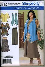 Tunic Pants Skirt+ - Khaliah Ali  Pattern Sizes 10-18