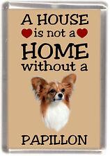 "Papillon Butterfly Dog No 2 Fridge Magnet ""A HOUSE IS NOT A HOME"" by Starprint"