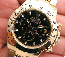 Rolex Cosmograph DAYTONA 116508 Mens 18K Yellow Gold Black Index Dial 40MM