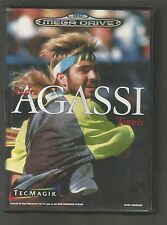 ANDRE AGASSI TENNIS - SEGA MEGA DRIVE GAME - cased with manual - TESTED
