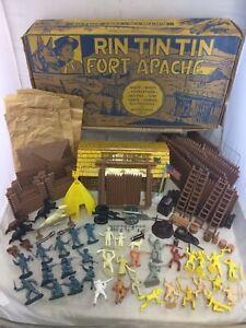 Vintage 1950's Marx Rin Tin Tin At Fort Apache Playset