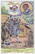 Black Americana Trade Card  Volksstammen van Belgisch Kongo Advertising  RL.400