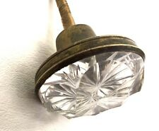 Circa 1830 Empire Antique Hardware Br Pressed Gl Crystal Drawer Pull