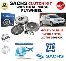 FOR VW GOLF V VI PLUS 1.6 1.9 2.0 TDi 2003-ON SACHS CLUTCH KIT with FLYWHEEL