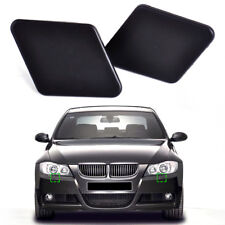 1Pair Matte Black Bumper Headlight Washer Nozzle Cover Cap for BMW 3 Series E90