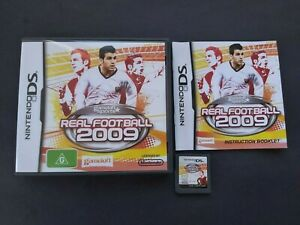 Real Football 2009 Nintendo DS game - complete - FREE POST