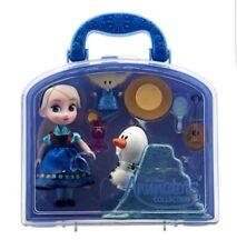 NEW Disney Store Animators' Frozen Princess Elsa & Olaf Doll Figure Mini Playset