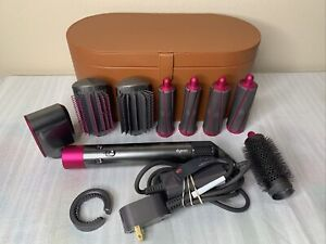 Dyson HS01 Airwrap Multi Hair Type Curling 10pc Complete System With Case EUC