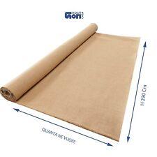 tessuto tela in FIBRA DI JUTA AL METRO stoffa iuta per sacco da sacchetto