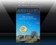 ANDORRA 2 EURO 2014 (2016) (Andorra joined the Council of Europe) Comm. coin UNC