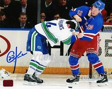 Chris Kreider New York Rangers Signed Autographed Canucks Burrows Fight 16x20