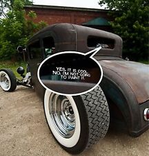 "2x Window Sticker Bumper Decal Rat Rod VW  ""I'm Not Going To Paint It"""