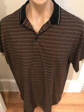 Pierre Cardin Mens L Cotton Brown Polo Shirt