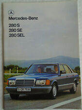 Mercedes 280S, 280SE, 280SEL brochure Jun 1980 French text