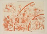 """Amoretten nach Francois Boucher (1703-1770)"", um 1890-1900, Chromolith"