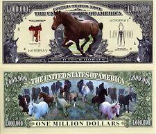 Les CHEVAUX BILLET de COLLECTION 1 MILLION DOLLAR US ! Equitation Cheval Poney