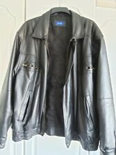 Mens Real Leather Bomber Jacket SizeXL