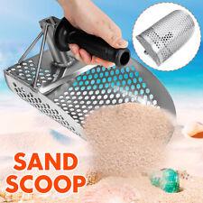 Hexagonal Stainless Beach Sand Scoop Metal Detector Detect Hunting W/ Handle