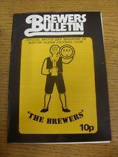 23/02/1980 Burton Albion v Dagenham [FA Trophy] (folded, team changes). Unless p