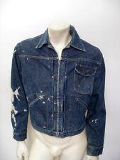 Vintage WRANGLER BLUE BELL One Pocket Denim Jean Jacket Size 38