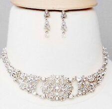101J Vintage Victorian Look Swarovski Clear Crystal Elements Choker Set