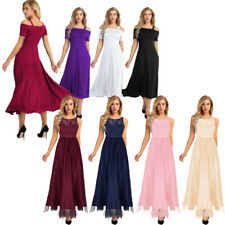 Women Formal Wedding Bridesmaid Evening Party Ball Prom Gown Long Cocktail Dress