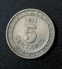 1911 Mexico 5 Centavos Original War Period XF-AU ☆ Revolution Period Nice Coin