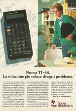 X2829 Calcolatrice scientifica TEXAS INSTRUMENTS - Pubblicità 1990 - Advertising