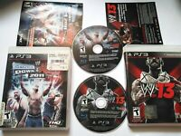 WWE PS3 LOT Smackdown Vs Raw 2011 WWE 13 2013 PLAYSTATION 3 Wrestling Video Game