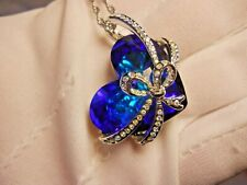 Crystals from Swarovski® New Qianse Blue Heart of the Ocean Pendant Necklace