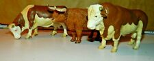 New ListingSchleich Scottish Highland Bull Cow Calf Figures Brown & White 1995/99/09