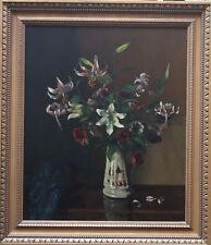 Margaret Evangeline Wilson 1890-1977 británico Floral Oleo exhibido 3