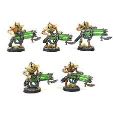 Warhammer 40K Ejército Necron Inmortales bien pintados y en base de plástico